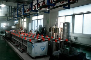 Automatic electrophoresis production line
